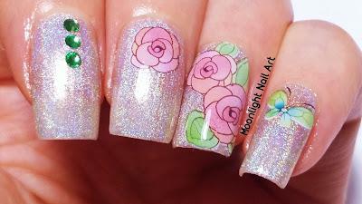 Roses Nail Design