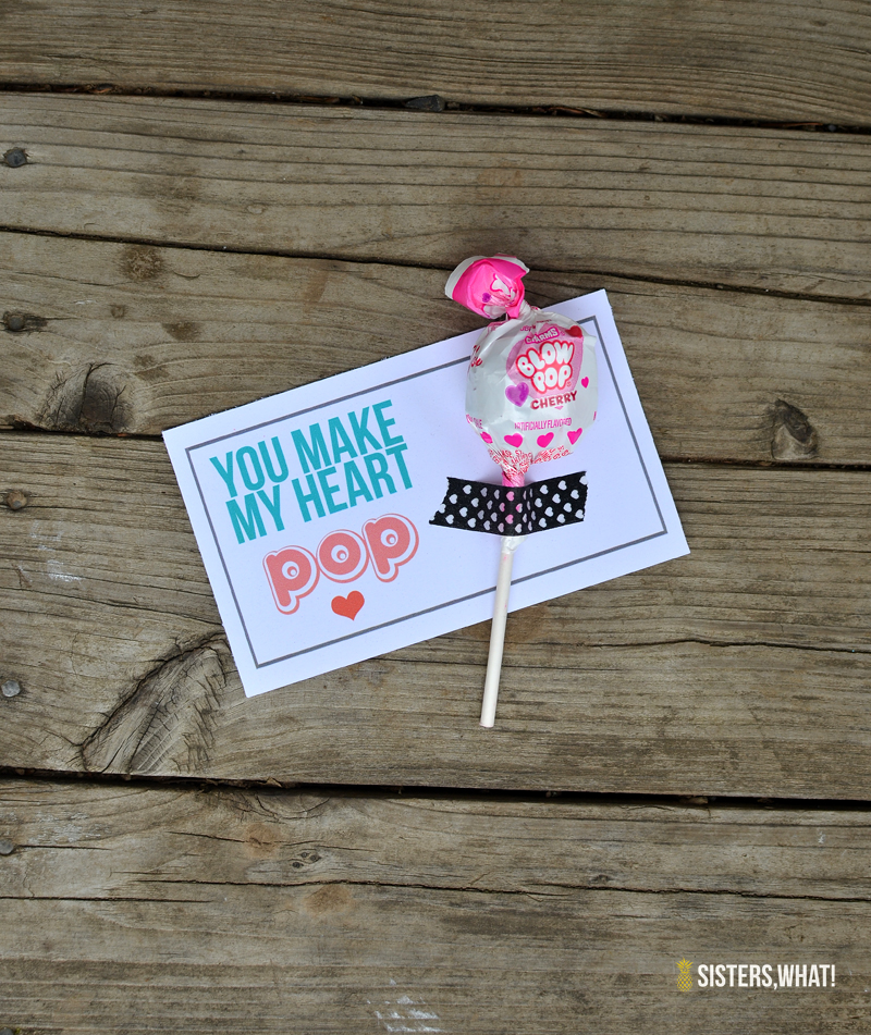 You make my heart pop valentine printable