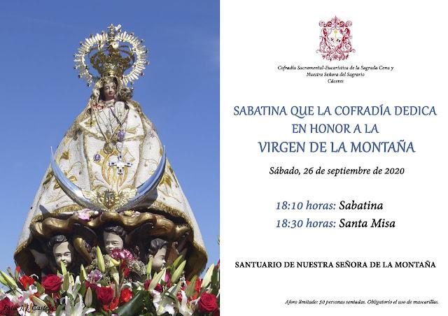 26 de Septiembre, Sabatina a la Virgen de la Montaña