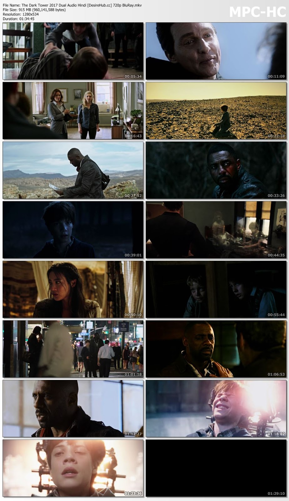 The Dark Tower 2017 Dual Audio Hindi 480p BluRay 300mb Desirehub