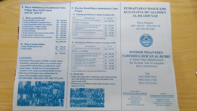 Brosur Pendaftaran Siswa/siswi Pesantren Siak
