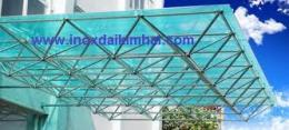 gkg giàn mái đón inox 304 3D mái vòm thép mạ kẽm, giàn mái không gian inox 304