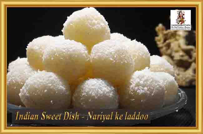 Indian Sweet Dishes - Nariyal ke laddoo