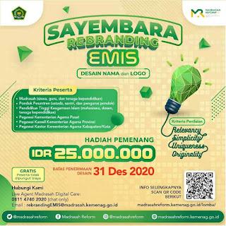 Hadiah 25 Juta Rebranding, Kemenag Gelar Sayembara Desain Nama dan Logo EMIS