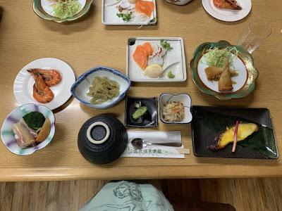 ニセコ五色温泉旅館の夕食