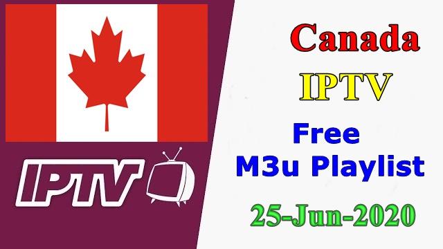 Canada IPTV Free VLC Player m3u Playlists 25-Jun-2020