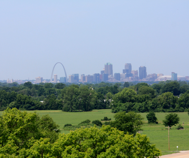 St. Louis from atop Monk's Mound.