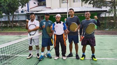 Hebat! Tim Tennis Kodim Lotim Berhasil ke Babak Semi Final PTAM Cup Girimenang ke 41