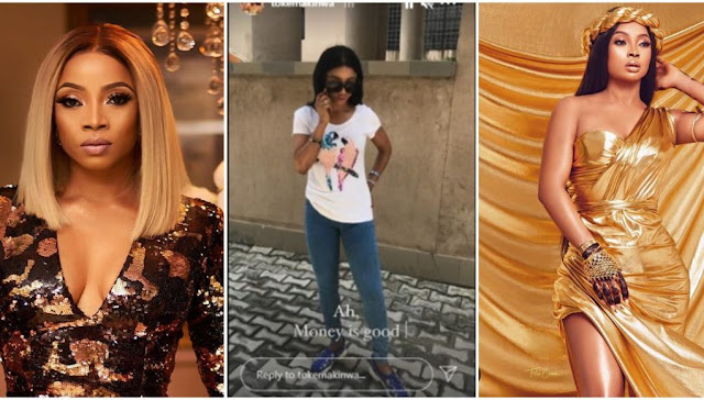 Money is Good- Toke Makinwa says as she shares her Throwback Photos