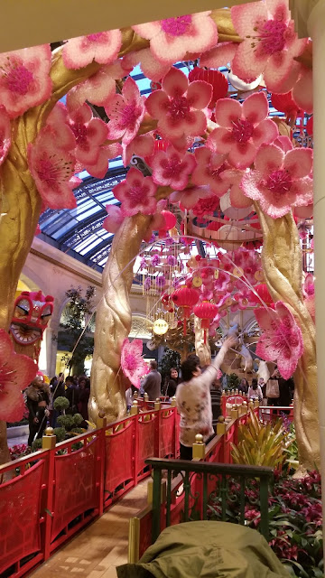Bellagio gardens. Currently a Lunar New Year theme!