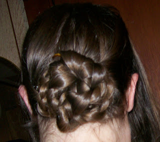 Cable plait chignon or bun.
