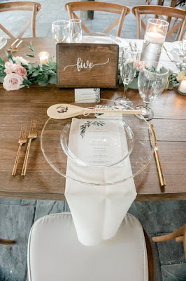 reception table numbers chargers and decor