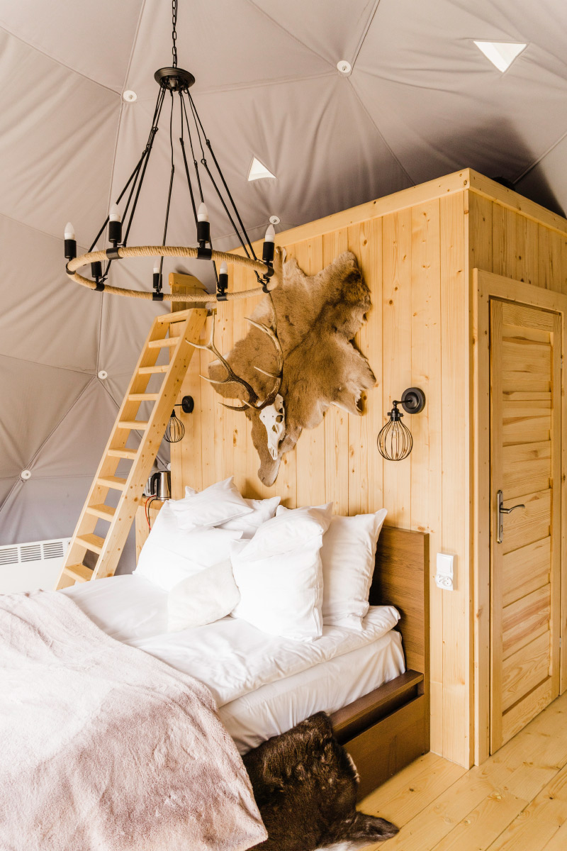 Luxury glamping tents in Poland
