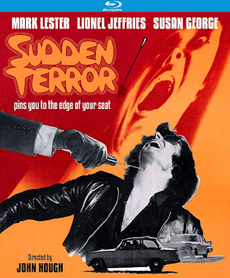 Kino Loreber's cover art for their Special Edition Blu-ray of SUDDEN TERROR!