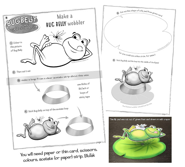 Download free craft sheet for Bug Belly crafts
