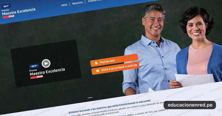 IPAE y BCP crean el «Premio Maestro Excelencia». Postula en www.maestroexcelencia.pe hasta el 04 de agosto