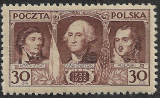 Poland 1932,Kosciuszko, Washington, Pulaski