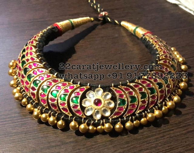 Silver Kundan Choker with Large Studs