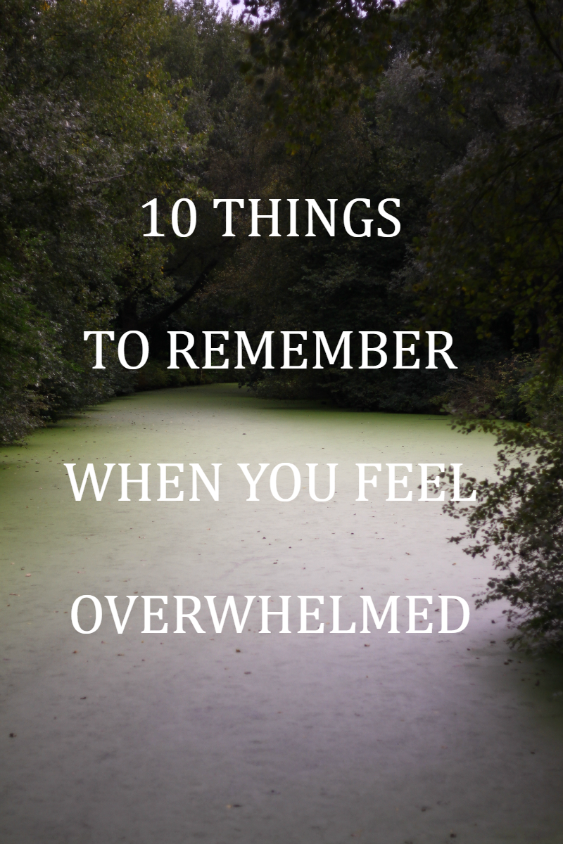 Feeling overwhelmed sucks, and there is not one way that fits everybody to get rid of feeling overwhelmed. However, I do know 10 thing to remember when you feel overwhelmed, with some tips here and there that help me when I feel overwhelmed.