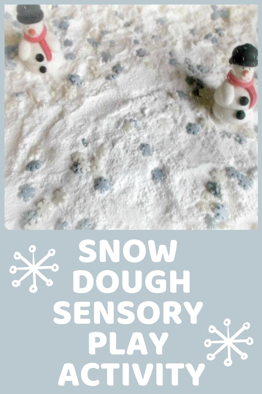 Snow Dough Sensory Play Activity