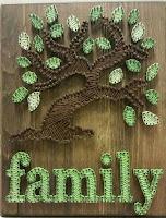 albero della vita realizzato con chiodi e filo