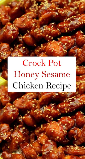 Crock Pot Honey Sesame Chicken #CrockPot #Honey #SesameChicken #Chickenrecipe