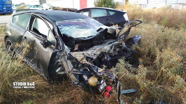 Τροχαίο δυστύχημα με δυο νεκρούς τη νύχτα στην Δαλαμανάρα Άργους (βίντεο)