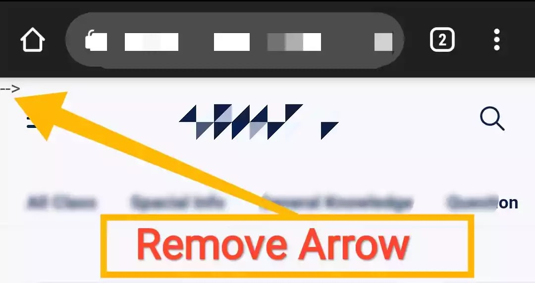 Remove The Arrow Marks on  Above Blog Page