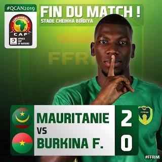 منتخب موريتانيا المرابطون ينتزع صدارة مجموعتة بعد فوزه علي بوركينا فاسو بهدفين