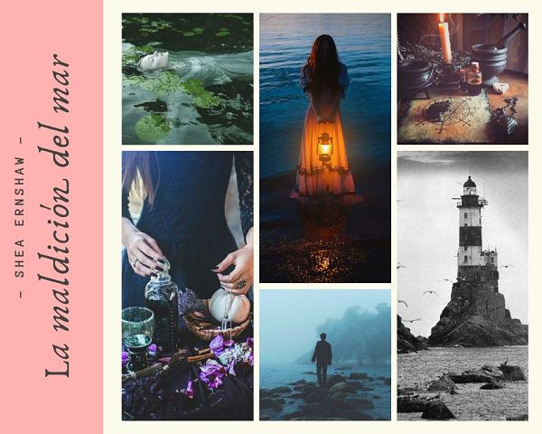 Fan art del libro La maldición del mar de la autora Shea Ernshaw