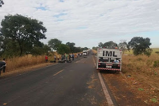 Paraibanos morrem em acidente de moto na BR-153, próximo de Cariri do Tocantins