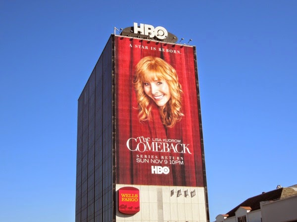 The Comeback season 2 giant billboard
