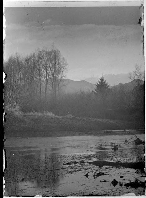 Vermutlich Chiemgau mit Blick Richtung Alpen - 1920-1940