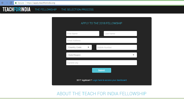 Teach For India Teach for All Fellowship Program