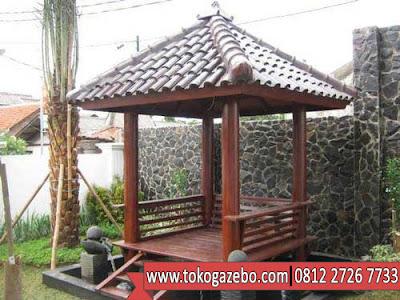 Gazebo Glugu Segi Empat Atap Genteng