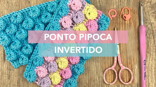 Cómo Hacer el Punto Palomita Invertido a Crochet