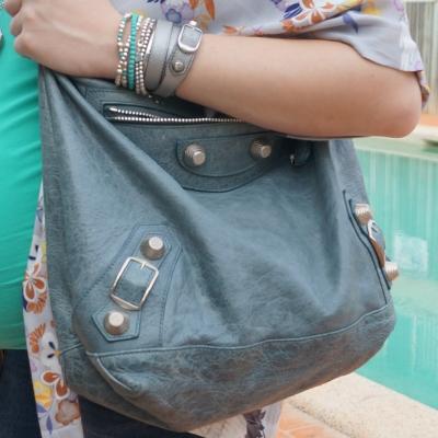AwayFromTheBlue | Balenciaga pearly grey wrap bracelet Balenciaga tempete day bag