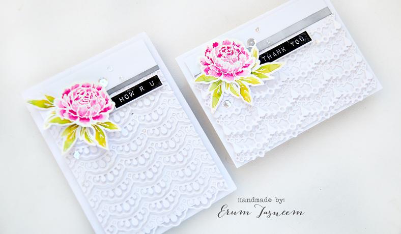 Spellbinders small die of the month February   Studio Katia Together We Bloom Stamp Set   Altenew Label Love   Erum Tasneem   @pr0digy0