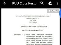 Download RUU Cipta Kerja .pdf (1028 hal)