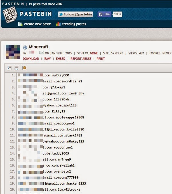 Minecraft hacked! More than 1800 Minecraft account Credentials Leaked
