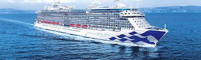 New Princess Ship Sky Princess delivered by Finacntieri for European, Caribbean, Mediterranean and New England Canada Cruises