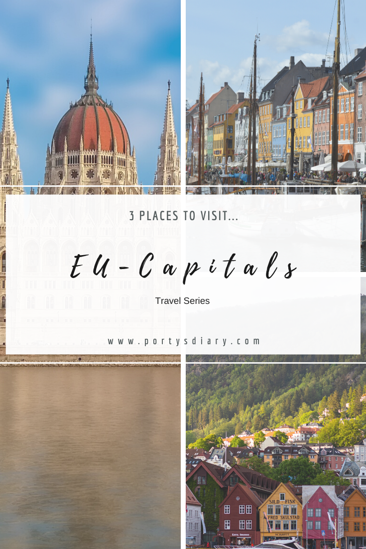3 European capitals I would like to visit. From Denmark to Hungary, with a stop in Norway.