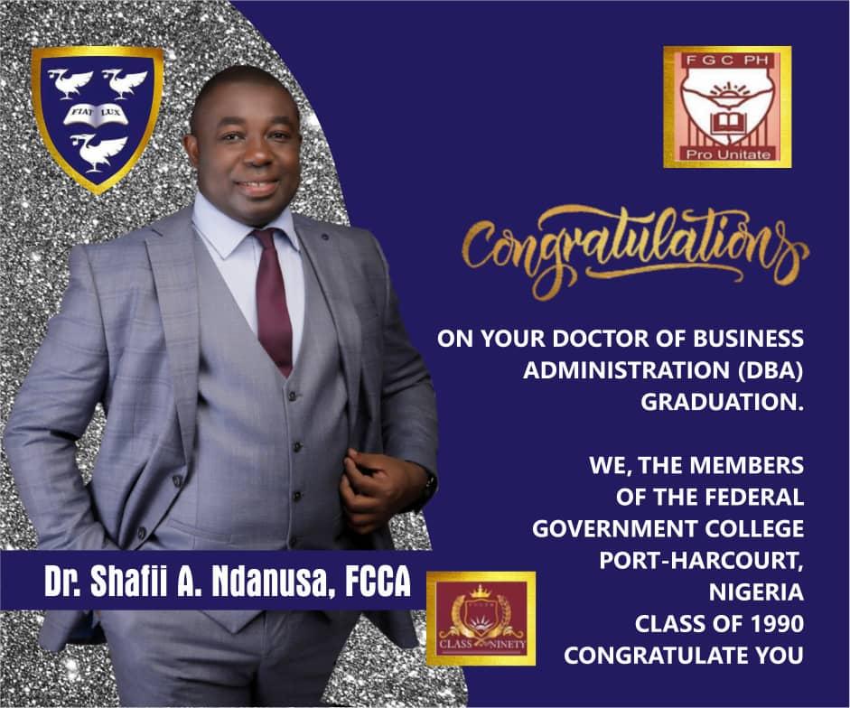 Dr. Shafii A. Ndanusa, FCCA