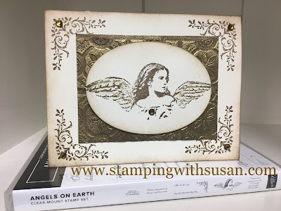 Stampin' Up!, www.stampingwithsusan.com, https://youtu.be/qFmTj-f2B7k, Angels on Earth, Coubntry Lane Suite, Tin Tile Embossing Folder,