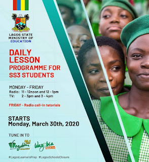 Lagos State Daily Lesson Program Timetable [SS3 Students] | Radio, TV