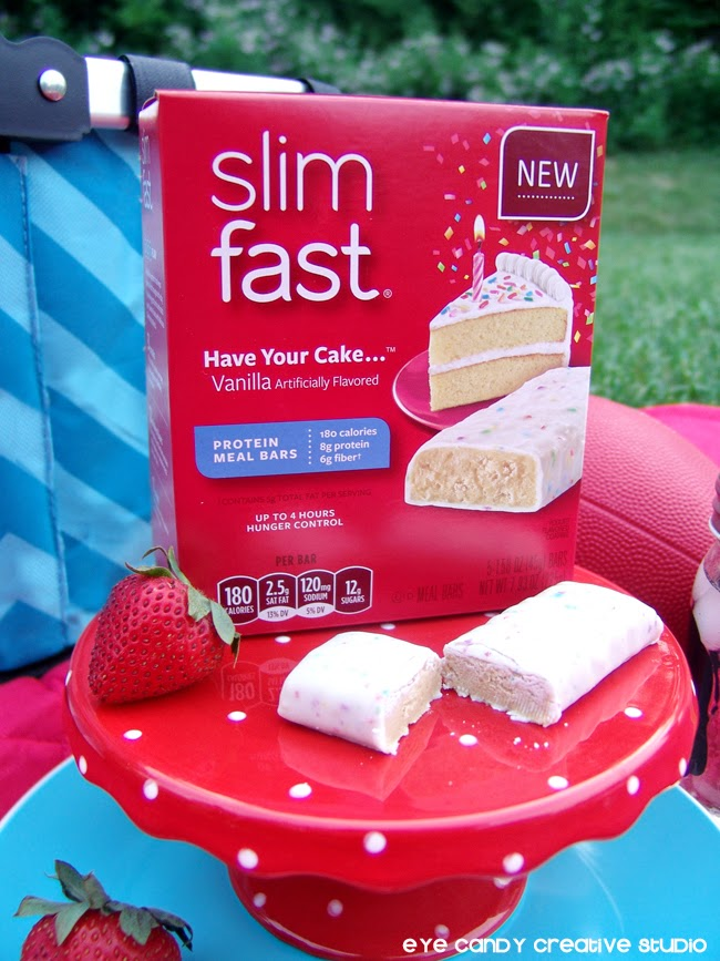 slimfast bars, have your cake, celebrate, birthdays, getting fit