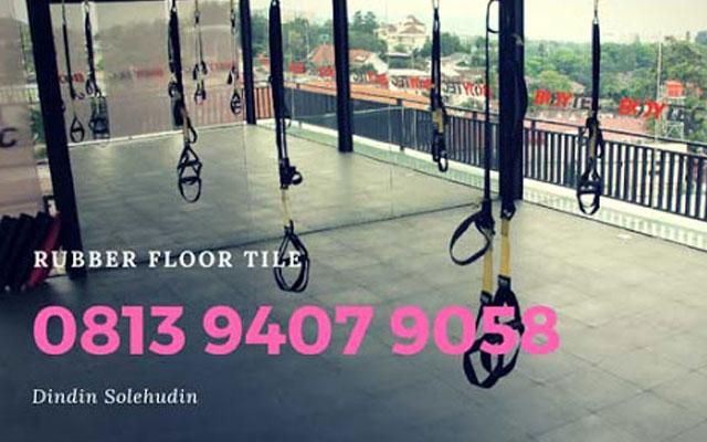 Pabrik Rubber Floor Tile di Bandung