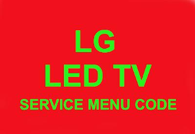 LG LED TV SERVICE MENU