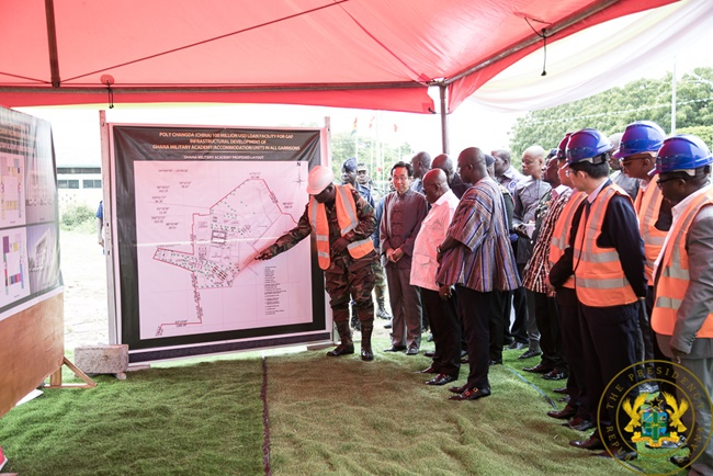 President Akufo-Addo Cuts Sod For $100 Million Military Housing Project