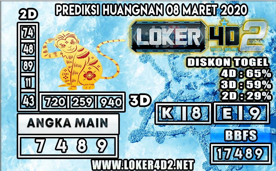 PREDIKSI TOGEL HUANGNAN LOKER4D2 8 MARET 2020